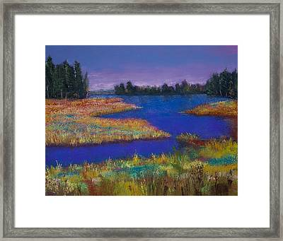 Raquette Lake Framed Print by David Patterson