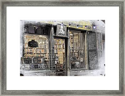 Rare Books Latin Quarter Paris France Framed Print
