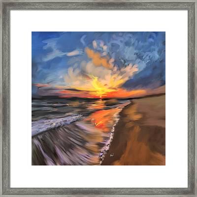 Rare California Sunset Framed Print by Angela A Stanton