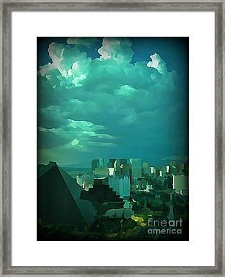 Rare Clouds Over Vegas Framed Print