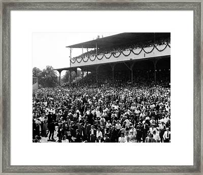 Rare Deutsches Derby In Germany Horse Racing Framed Print by Retro Images Archive