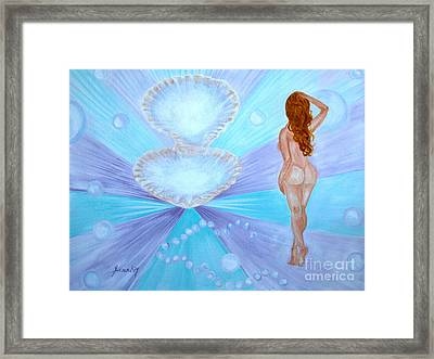 Rare Pearl. Inspirations Collection. Framed Print