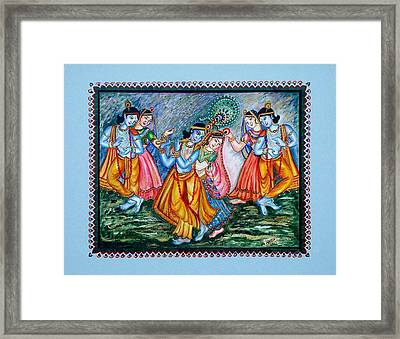 Framed Print featuring the painting Ras Leela by Harsh Malik