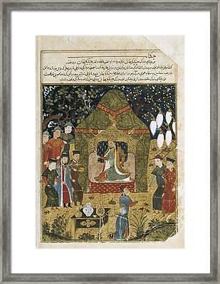 Rashid Al-din 1247 - 1318. Compendium Framed Print by Everett