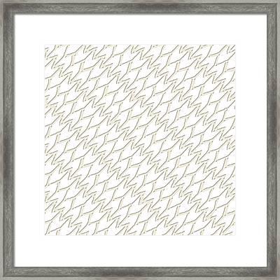 Rashmi Ikat Ivory White Framed Print