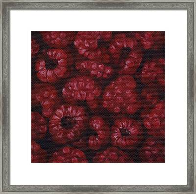 Framed Print featuring the painting Raspberries by Natasha Denger
