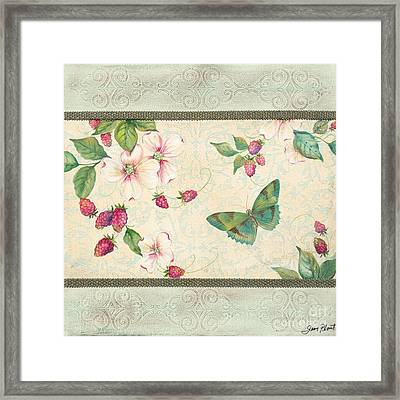 Raspberry Bliss Framed Print by Jean PLout