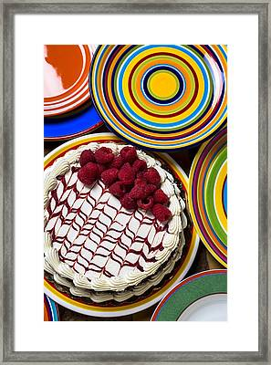 Raspberry Cake Framed Print by Garry Gay
