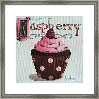 Raspberry Chocolate Cupcake Framed Print by Catherine Holman