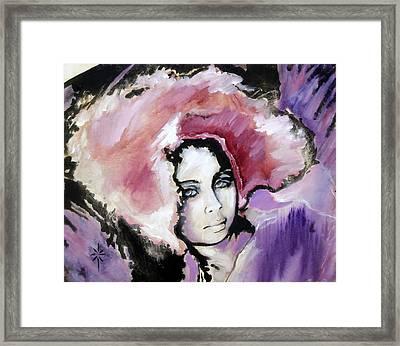 Framed Print featuring the painting Raspberry Dreams by Jodie Marie Anne Richardson Traugott          aka jm-ART