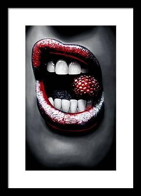 Mouth Framed Prints