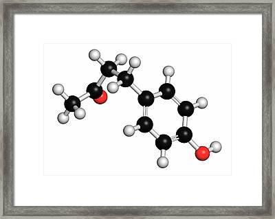 Raspberry Ketone Molecule Framed Print