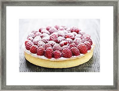 Raspberry Tart Framed Print by Elena Elisseeva