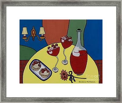 Framed Print featuring the painting Raspberry Wine by Barbara McMahon