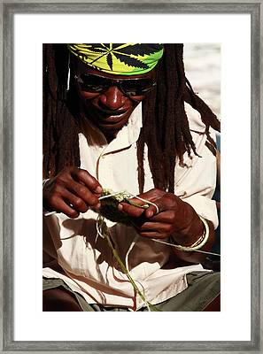 Rasta Man Framed Print by Aidan Moran