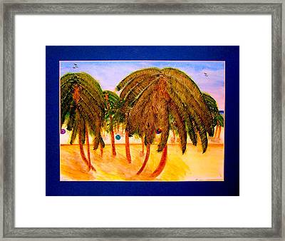 Rasta Palms Framed Print