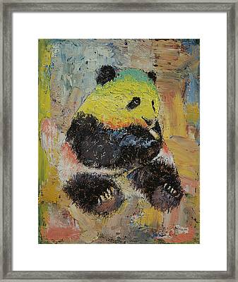 Rasta Panda Framed Print by Michael Creese