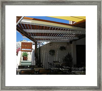 Rastoni On Santorini Framed Print