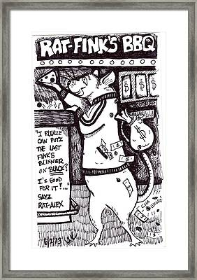 Rat Alex Framed Print by Michelle Kinzler