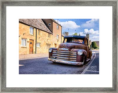 Rat Chevy 3100 Pickup Framed Print by Tim Gainey