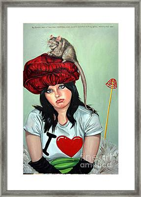 Rat Hat Framed Print by Shelley Laffal