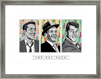 Rat Pack Pop Art Framed Print