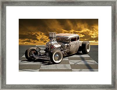 Rat Rod Coupe IIi Framed Print by Dave Koontz