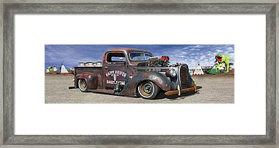 Rat Rod On Route 66 3 Framed Print by Mike McGlothlen