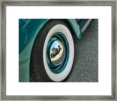 Framed Print featuring the photograph Rat Rod Reflection by Victor Montgomery