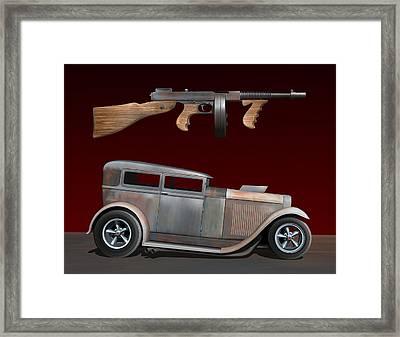 Rat Rod Sedan Iv Framed Print by Stuart Swartz