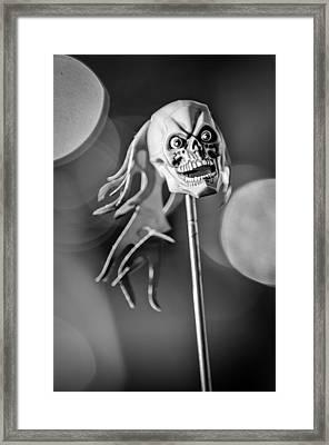 Rat Rod Skull Antenna Ornament Framed Print