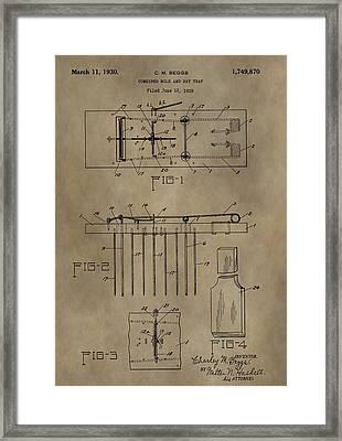 Rat Trap Patent Framed Print