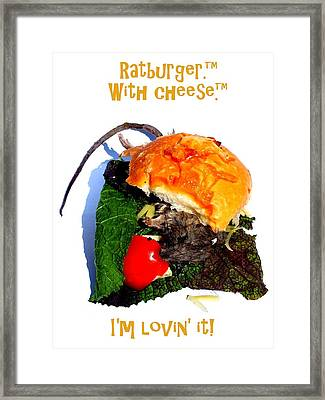 Ratburger With Cheese Framed Print