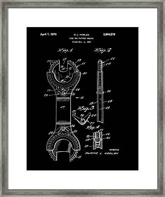 Ratchet Wrench Patent Framed Print by Dan Sproul
