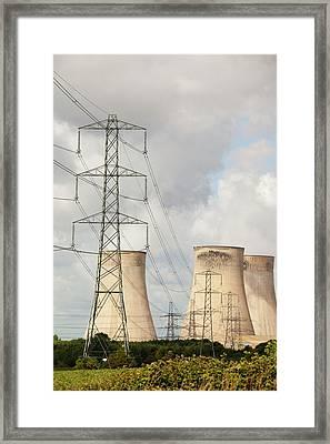 Ratcliffe On Soar Power Station Framed Print