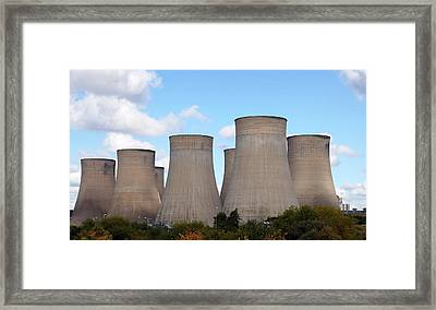 Ratcliffe-on-soar Power Station Framed Print by Victor De Schwanberg