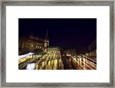Rathaus Color Explosion Framed Print