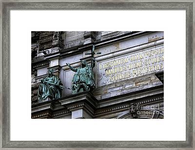 Rathaus Guardians Framed Print