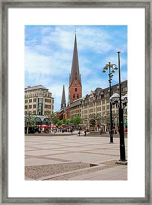 Rathaus Market Platz Square And St Framed Print by Miva Stock