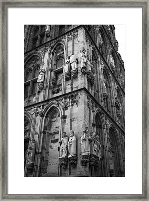 Rathaus Tower Cologne Germany Bw Framed Print by Teresa Mucha