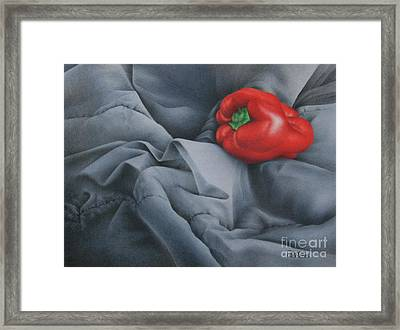 Framed Print featuring the painting Rather Red by Pamela Clements