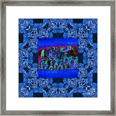 Rattlesnake Abstract Window 20130204m180 Framed Print by Wingsdomain Art and Photography