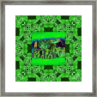 Rattlesnake Abstract Window 20130204p75 Framed Print by Wingsdomain Art and Photography