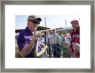 Rattlesnake Rodeo In Opp Framed Print