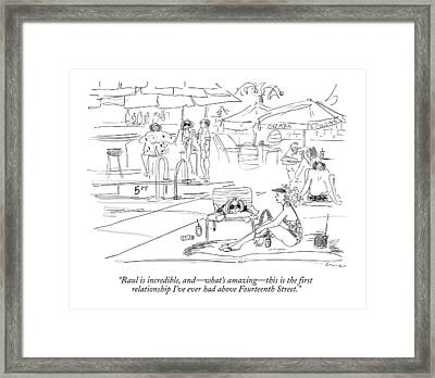 Raul Is Incredible Framed Print by Richard Cline