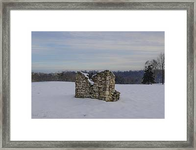Ravages Of Winter Framed Print