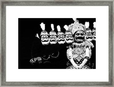 Ravana In Ramleela Framed Print by Jagdish Agarwal