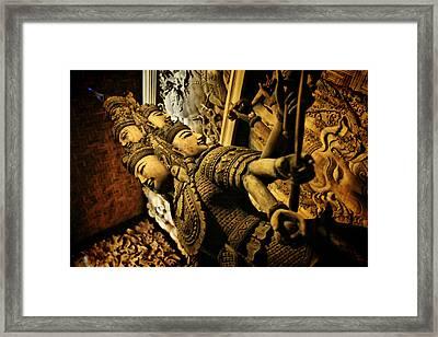 Ravana Framed Print by Suradej Chuephanich