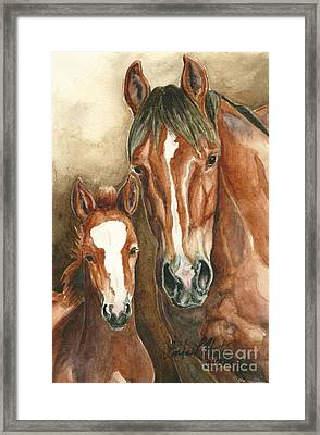 Lark And Robin Of Sand Wash Basin Framed Print