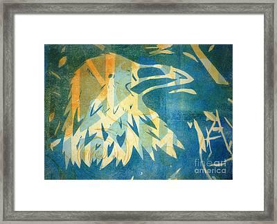 Raven Blue Framed Print by Cynthia Lagoudakis